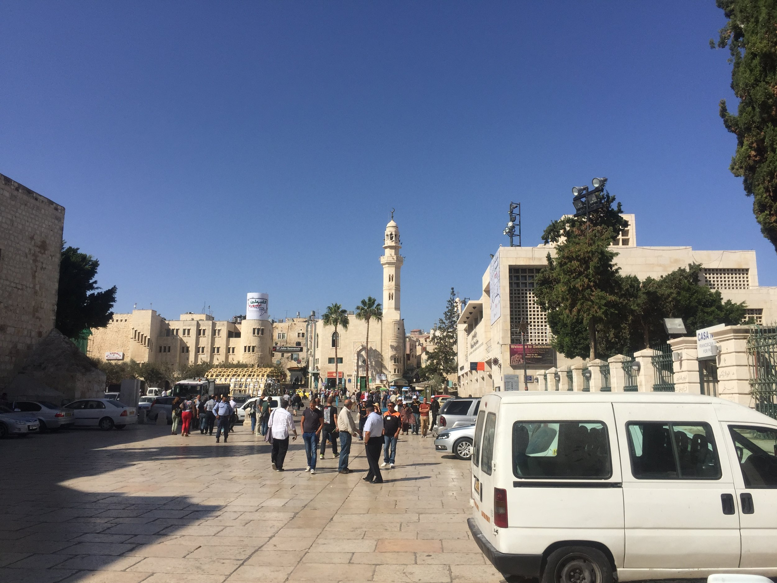 The Birthplace of Jesus is surrounded by Mosques